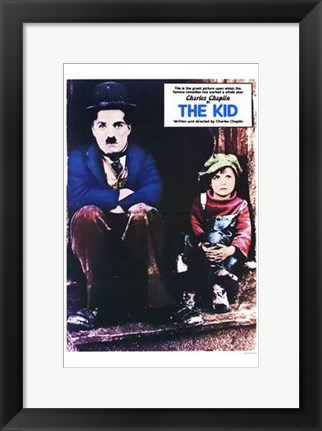 Framed Kid Vintage Print