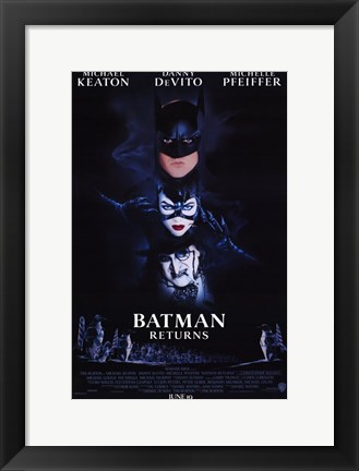 Framed Batman Returns Cast Print