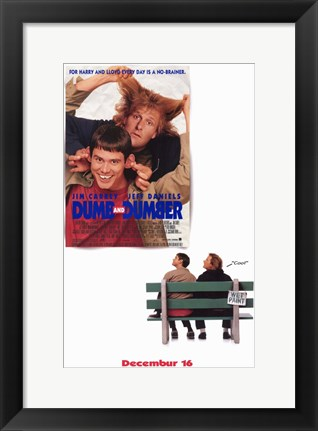 Framed Dumb and Dumber - movies Print