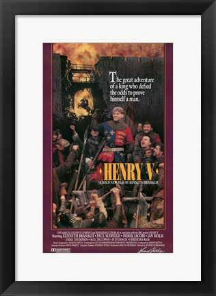 Framed Henry V - King who defeated Print