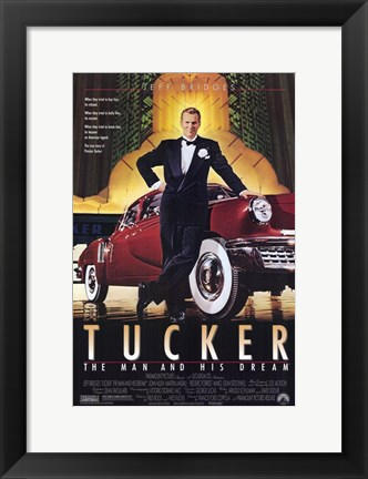 Framed Tucker the Man and His Dream Classic Red Car Print