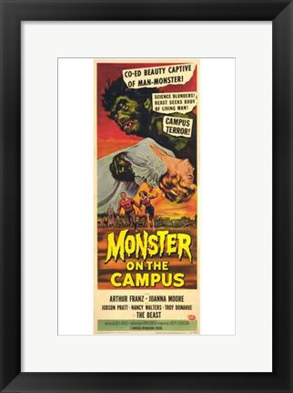Framed Monster on the Campus Print