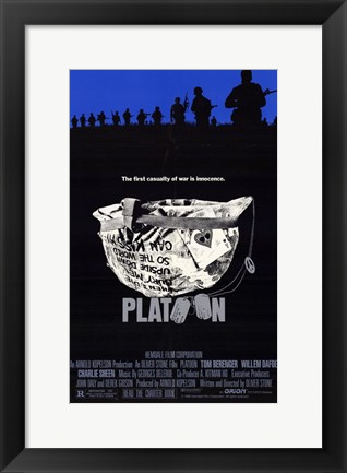 Framed Platoon - First Casualty Print