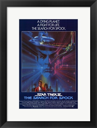 Framed Star Trek 3: the Search for Spock Print