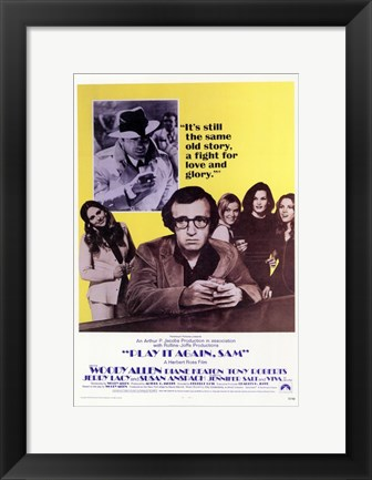 Framed Play it Again Sam Same Old Story Print