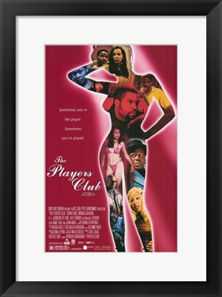 Framed Players Club - woman figure Print