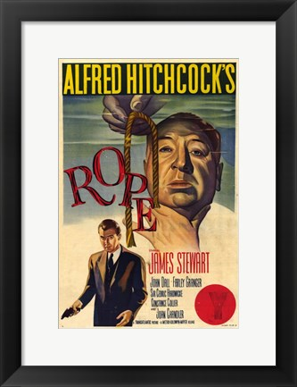 Framed Rope - Alfred Hitchcock's Print
