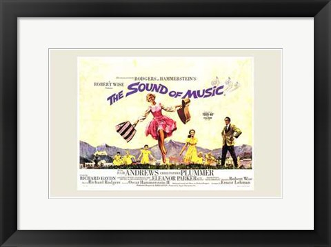 Framed Sound of Music Horizontal Musical Print