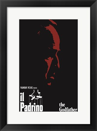 Framed Godfather Red Profile Italian Print