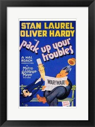 Framed Pack Up Your Troubles Print