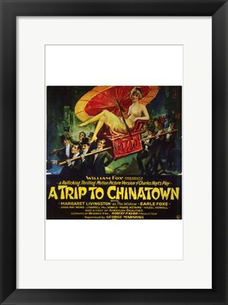 Framed Trip to Chinatown  a Print