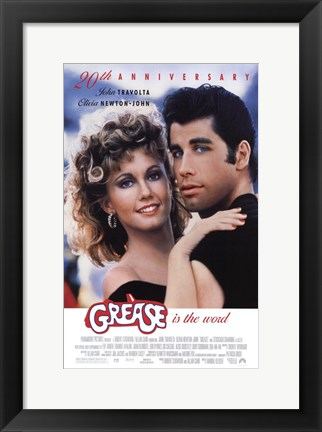 Framed Grease 20th Anniversary Print
