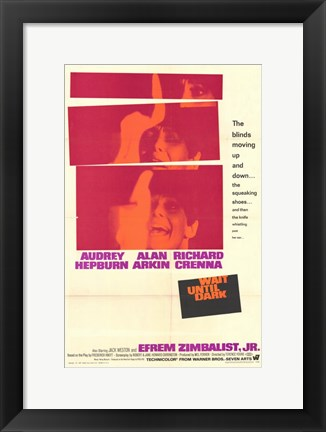 Framed Wait Until Dark Audrey Hepburn Print