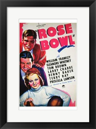 Framed Rose Bowl Print