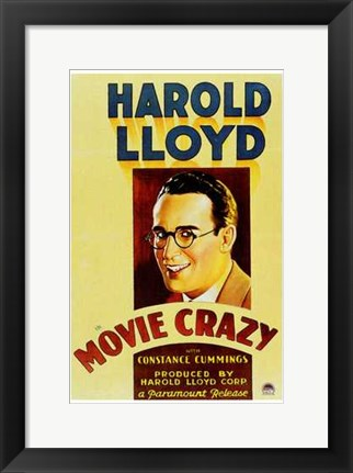 Framed Movie Crazy Print