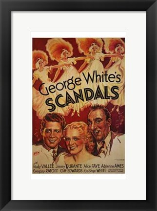 Framed George White's Scandals Print