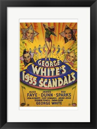 Framed George White's 1935 Scandals Print