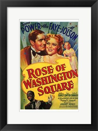 Framed Rose of Washington Square Print
