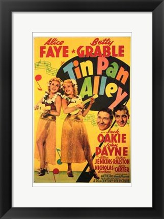 Framed Tin Pan Alley Print