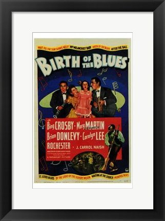 Framed Birth of the Blues Print