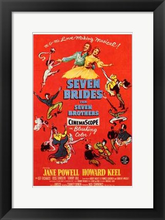 Framed Seven Brides for Seven Brothers Print