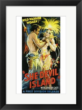 Framed She-Devil Island Print