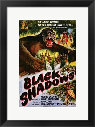 Framed Black Shadows Print