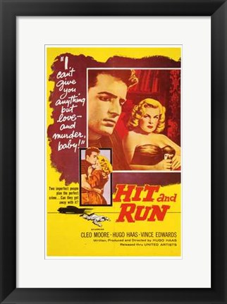 Framed Hit and Run Print