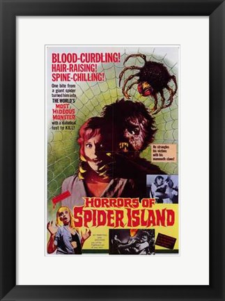Framed Horrors of Spider Island Print