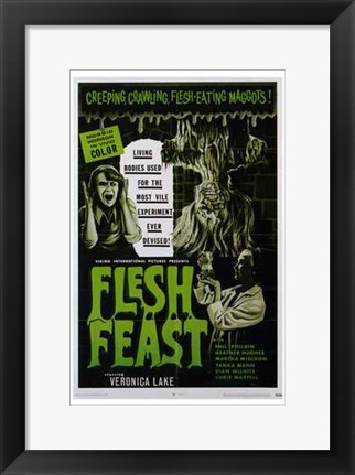 Framed Flesh Feast Print