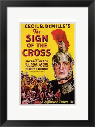 Framed Sign of the Cross Print