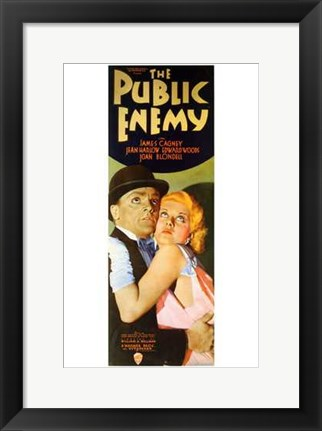 Framed Public Enemy Cagney And Harlow Print