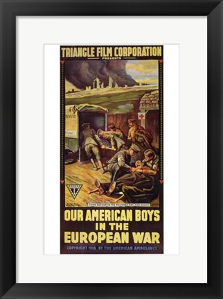 Framed Our American Boys in the European War Print