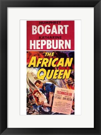 Framed African Queen Red Print