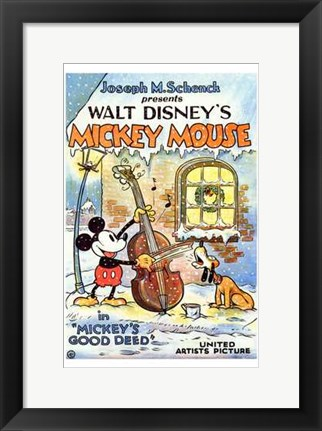 Framed Mickey's Good Deed Print