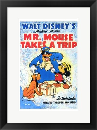 Framed Mr Mouse Takes a Trip Print