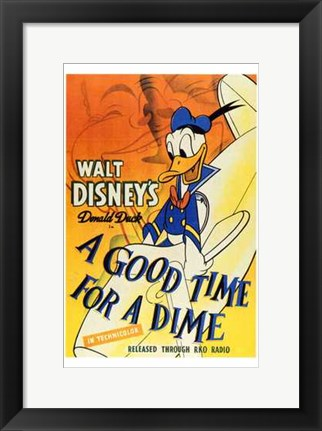 Framed Good Time for a Dime Print