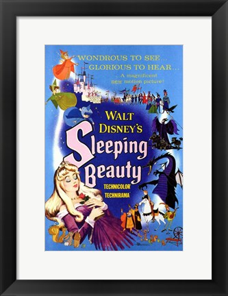 Framed Sleeping Beauty Wondrous to See Glorious to Hear Print
