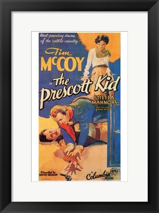 Framed Prescott Kid Tim McCoy Print