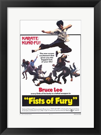 Framed Fists of Fury Print