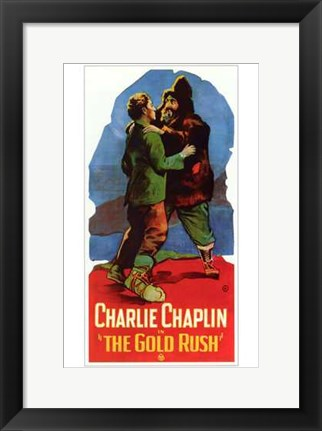 Framed Gold Rush Excited Print