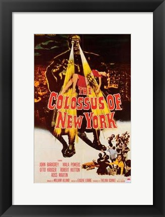 Framed Colossus of New York Print