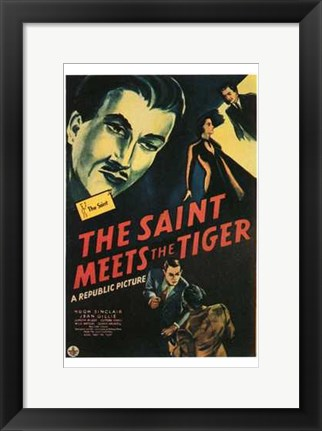 Framed Saint Meets the Tiger Print