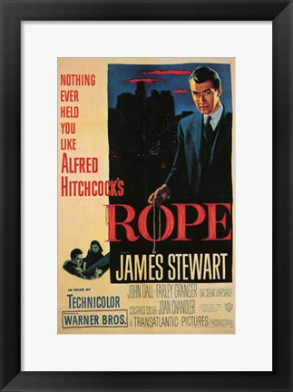 Framed Rope - James Stewart Print