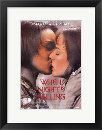 Framed When Night is Falling - kiss Print