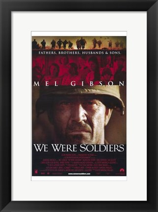 Framed We Were Soldiers Print