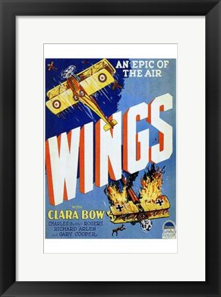 Framed Wings - An Epic of The Air Print