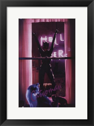Framed Batman Returns Catwoman in Window Print