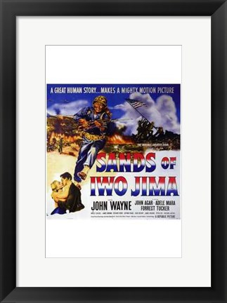Framed Sands of Iwo Jima - square Print