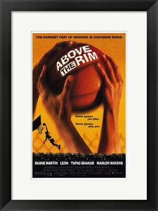 Framed Above the Rim - Basketball Print